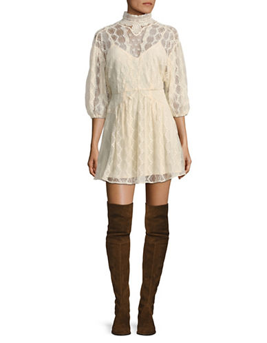 Free People Bittersweet Mini Dress-NATURAL-2