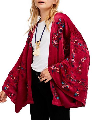 Free People Ariel Open Front Kimono-PINK-X-Small/Small