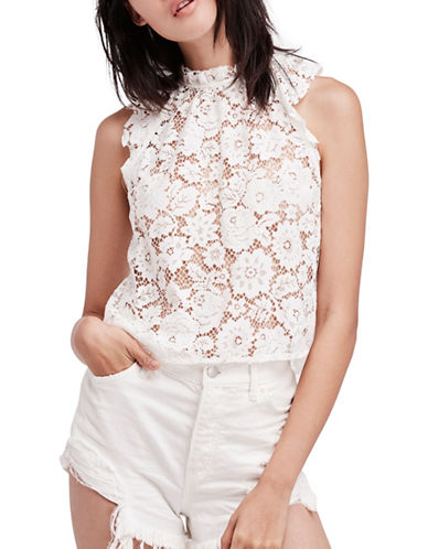 Free People Sweet Meadow Dreams Lace Top-IVORY-X-Small