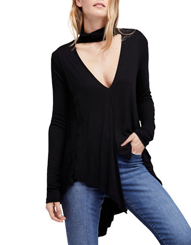 Free People Uptown Choker Top-BLACK-Medium