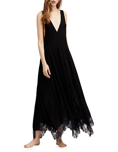 Free People Girl Like You Slip Dress-BLACK-Medium