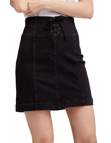 Free People Modern Femme Corset Skirt-BLACK-4
