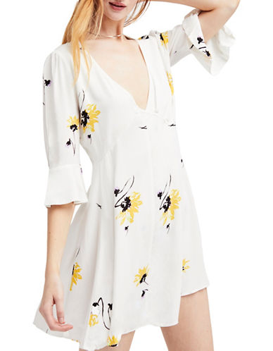 Free People Time on My Side Mini Dress-WHITE-X-Small