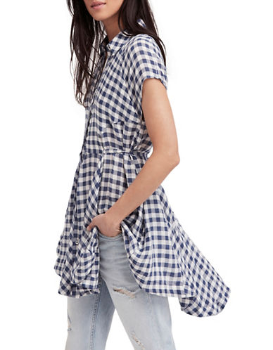Free People New Spring Love Tunic-NAVY-Small