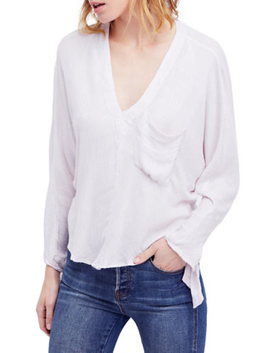 Free People Morning Dolman Top-WHITE-X-Small