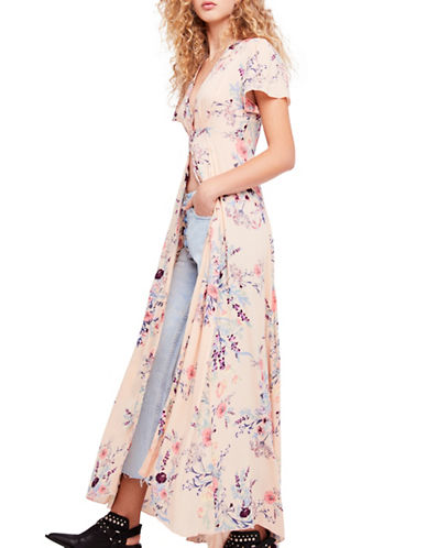 Free People Deevinie Maxi Dress-PEACH-Small