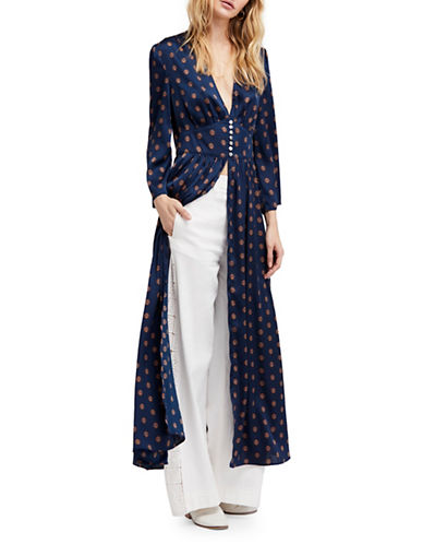 Free People Alexa Maxi Duster-NAVY-Small