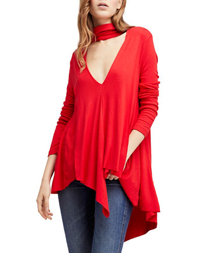 Free People Uptown Choker Top-RED-Large