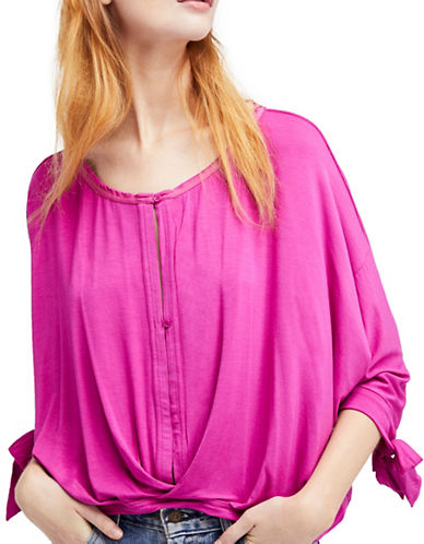 Free People Keepin On Tee-RASPBERRY-Medium