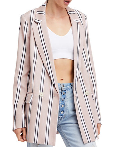 Free People Uptown Girl Cotton Blazer-ROSE-Large