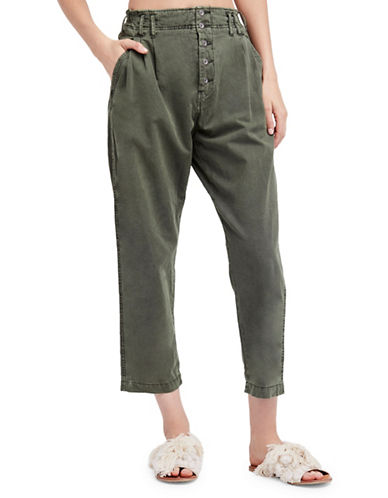 Free People Compass Star Cotton Trousers-SLATE-0