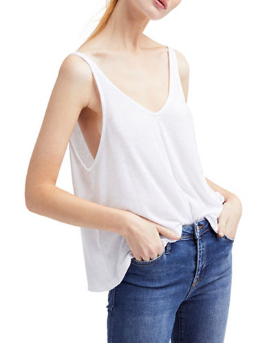 Free People Dani Tank Top-WHITE-Medium