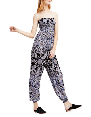 Free People Thinking of You Jumpsuit-BLACK-X-Small