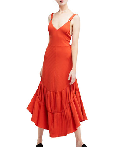 Free People Into You Maxi Dress-RED-Small