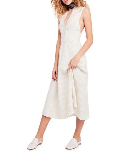 Free People Pretty Daze Midi Dress-IVORY-Large