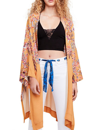 Free People Don't Know Oversized Kimono-YELLOW-X-Small/Small