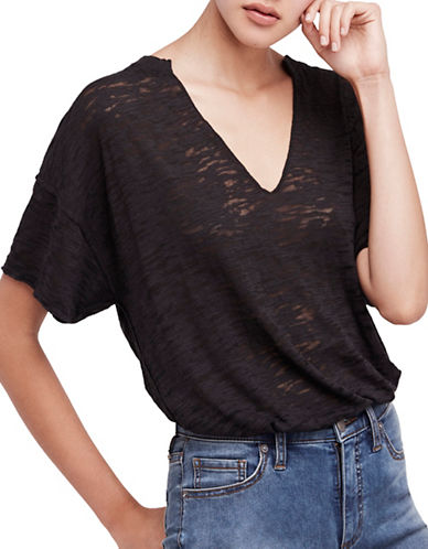 Free People Maddie Tee-BLACK-Medium