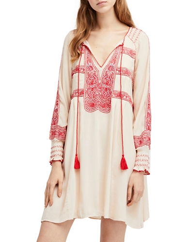 Free People Wind Willow Mini Dress-IVORY-Large