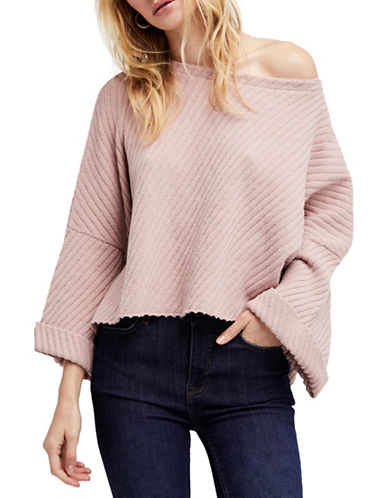 Free People I Cant Wait Oversized Sweater-ROSE-Large