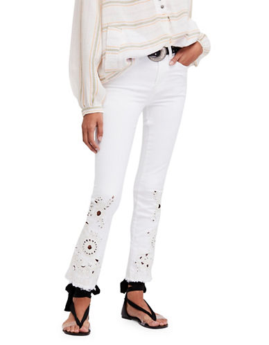 Free People Cutout Cigarette Jeans-IVORY-31