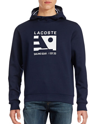 Lacoste Logo Style Pullover Hoodie-NAVY BLUE-X-Large 88565889_NAVY BLUE_X-Large