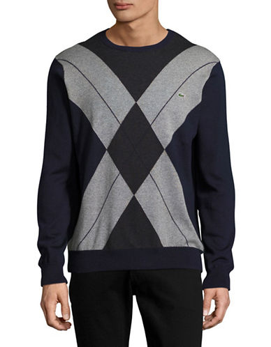 Lacoste Argyle Sweater-GREY-Small 88637824_GREY_Small