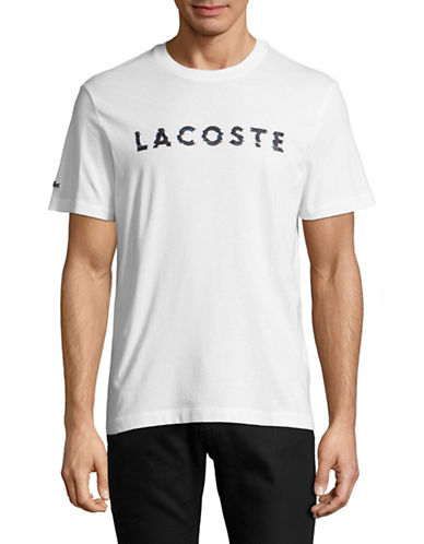 Lacoste Textured Logo T-Shirt-WHITE-Small