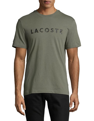 Lacoste Textured Logo T-Shirt-GREY-Large 89395814_GREY_Large