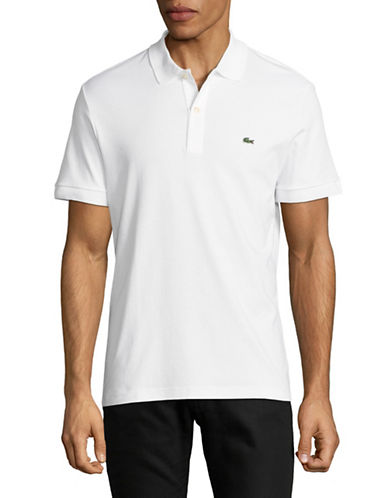Lacoste Short Sleeve Cotton Polo-WHITE-Large