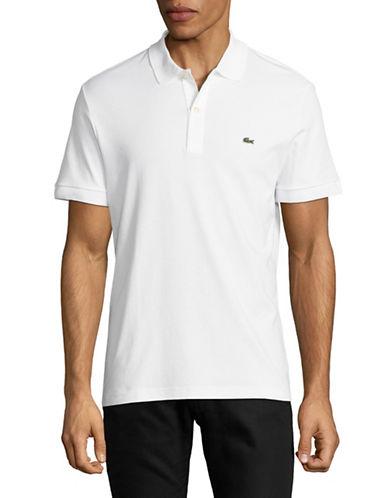 Lacoste Short Sleeve Cotton Polo-WHITE-X-Large
