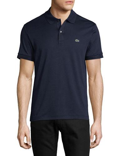 Lacoste Short Sleeve Cotton Polo-MARINE BLUE-Large