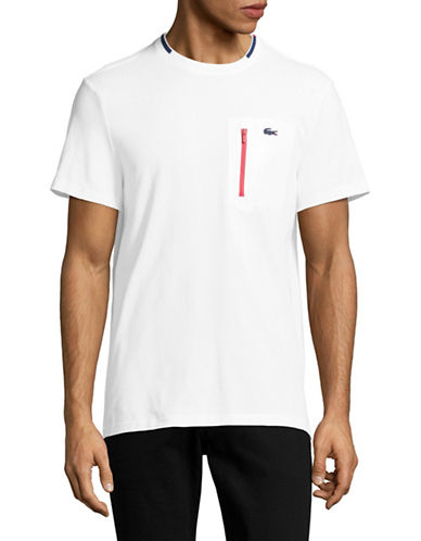 Lacoste Cotton Pique T-Shirt-WHITE-X-Large 89034840_WHITE_X-Large