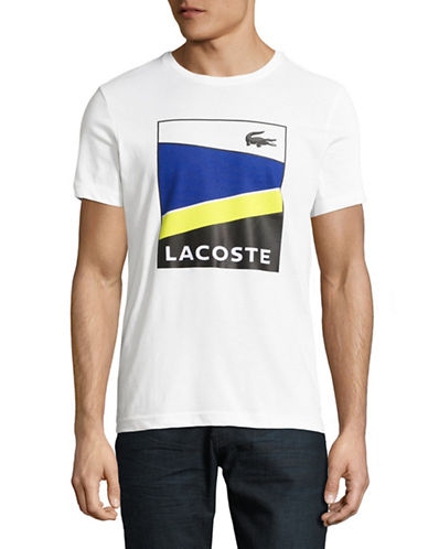 Lacoste Logo Graphic T-Shirt-WHITE-Large 89275243_WHITE_Large