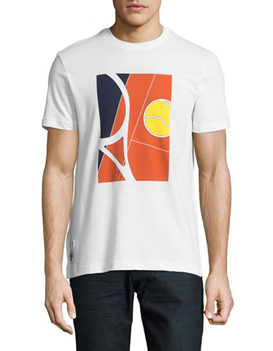 Lacoste Court Graphic T-Shirt-WHITE-Medium