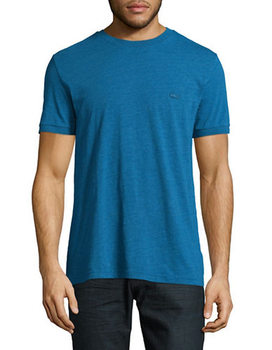 Lacoste Regular-Fit Heathered T-Shirt-BLUE-Medium