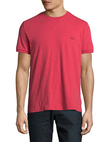 Lacoste Regular-Fit Heathered T-Shirt-PINK-Medium 89395852_PINK_Medium