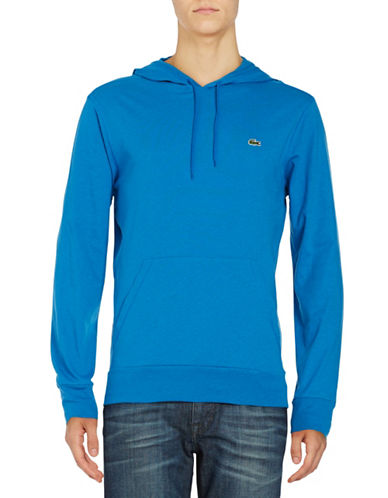 Lacoste Regular-Fit Cotton Hoodie-BLUE-Medium 89034829_BLUE_Medium