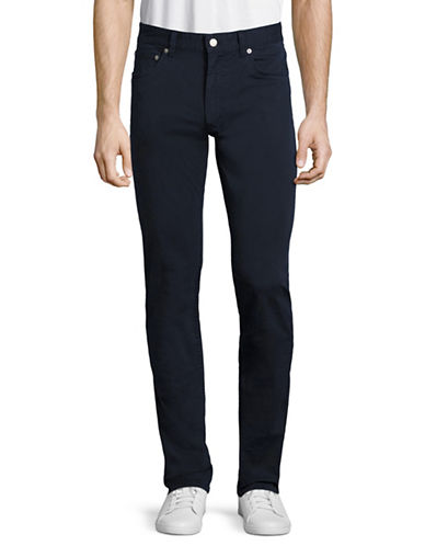 Lacoste Cotton Leisure Trousers-NAVY BLUE-34X34