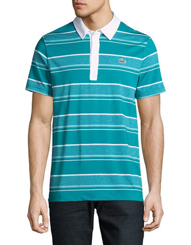 Lacoste Ultra Dry Rugby Stripe Polo-BLUE/WHITE-XX-Large