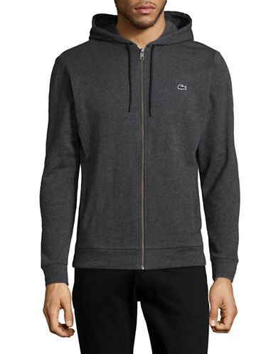 Lacoste Cotton Hoodie-GREY-Small 89043279_GREY_Small
