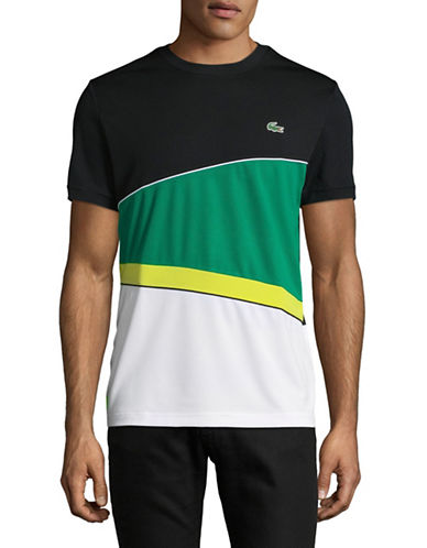 Lacoste Colourblock T-Shirt-GREEN-Medium