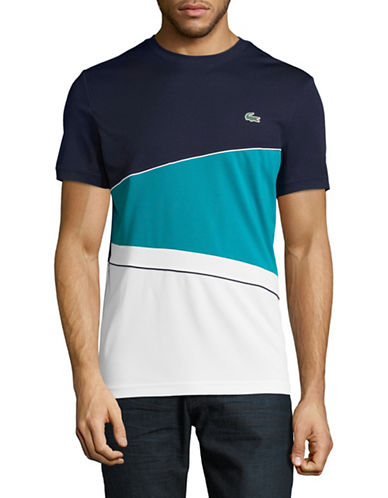 Lacoste Colourblock T-Shirt-NAVY BLUE-Large