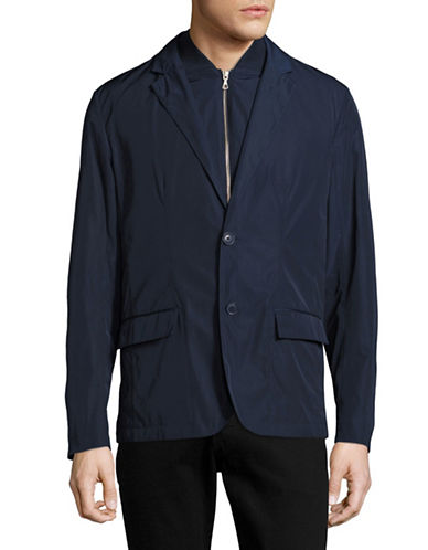 Lacoste 3-in-1 Notch Collar Coat-NAVY BLUE-52