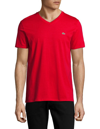 Lacoste Regular Fit Cotton T-Shirt-RED-Large 89034910_RED_Large