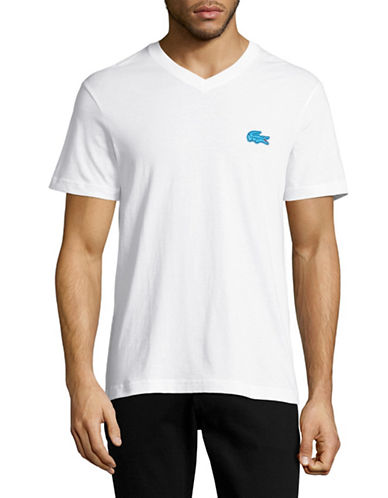Lacoste Cotton Logo T-Shirt-WHITE-X-Large 89034887_WHITE_X-Large