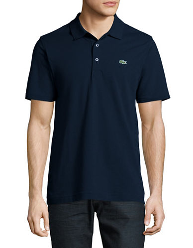 Lacoste Cotton Polo-NAVY BLUE-Large