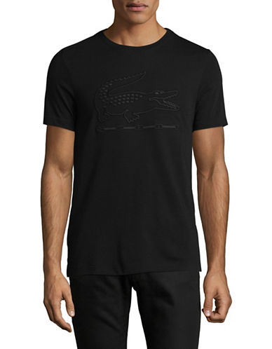 Lacoste Metallic Graphic Tee-BLACK-Small 89471706_BLACK_Small