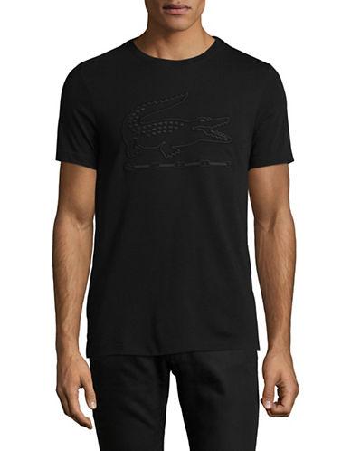 Lacoste Metallic Graphic Tee-BLACK-Medium 89471707_BLACK_Medium