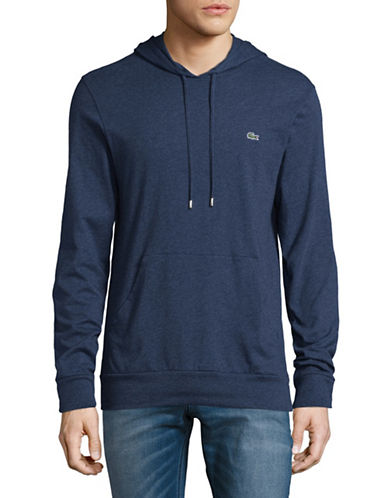 Lacoste Classic Hoodie-BLUE-Small