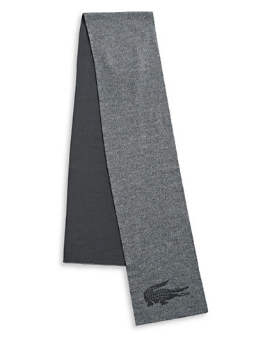 Lacoste Colourblock Wool Scarf-NAVY-One Size